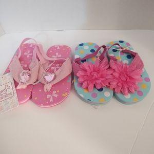 Pair of Toddler Sandels - Pink / Polka Dot